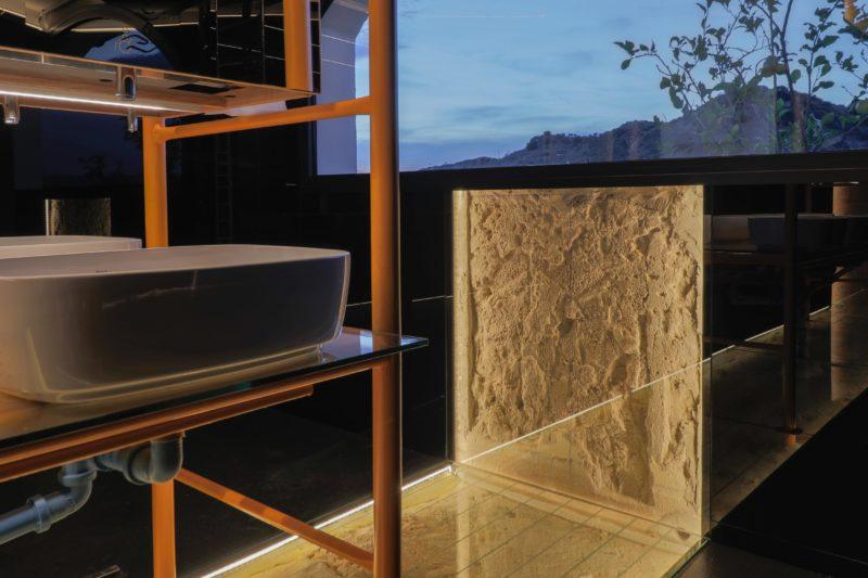 Diseño baño contrastes