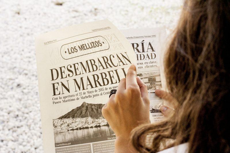 """campaña publicitaria_ """"Los Mellizos"""" Periódico"""