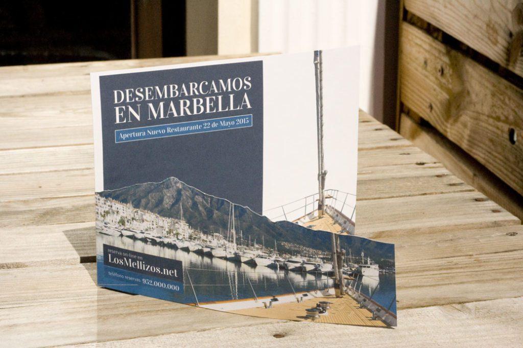 """campaña publicitaria_ restaurante """"Los Mellizos"""""""