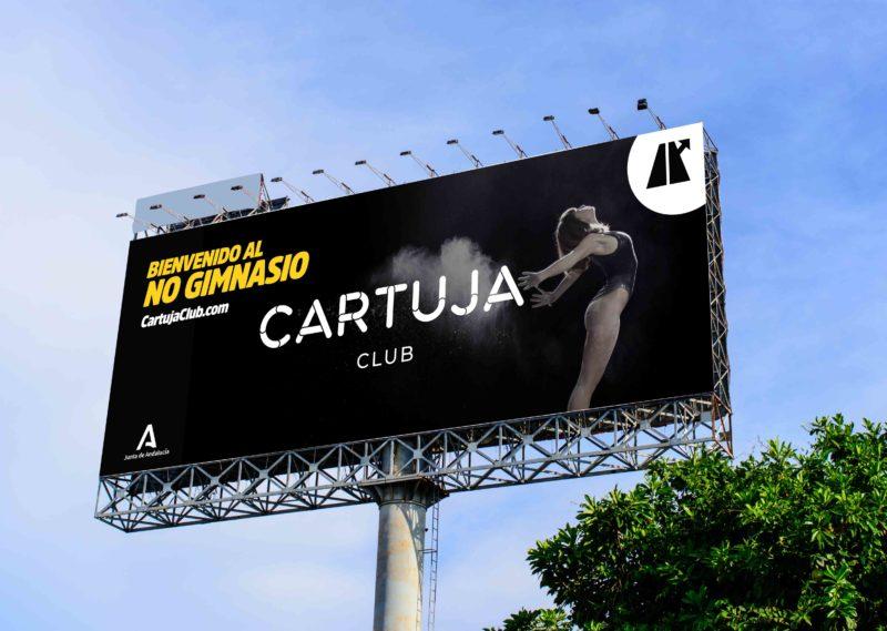 Logo Gimnasio Publicidad Carretera