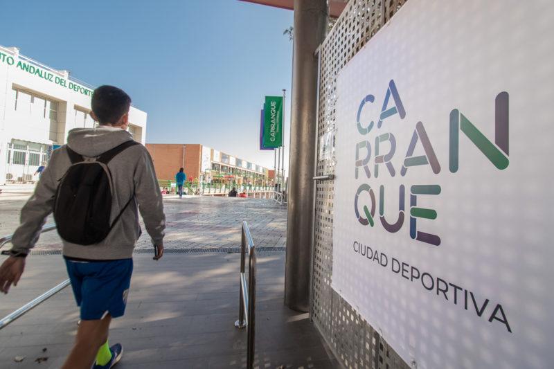 acceso-principal-carranque-ciudad-deportiva-malaga-dika Tematización Ciudad Deportiva Carranque