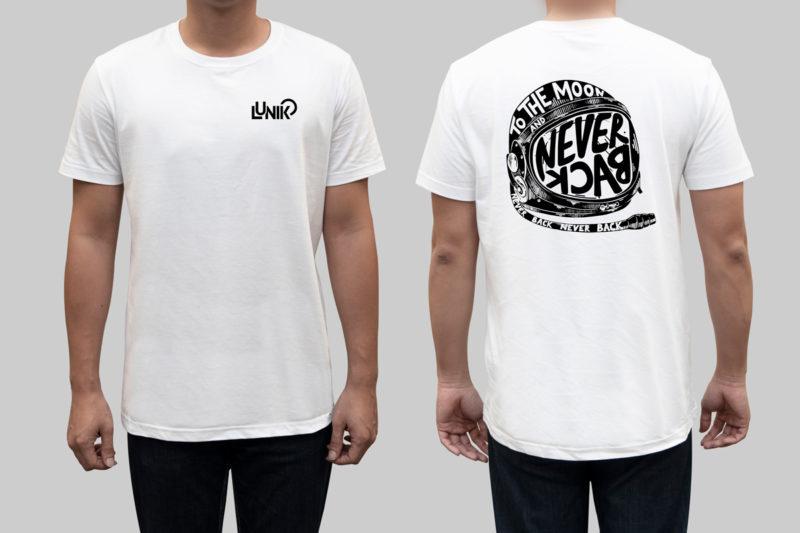 diseño logo camiseta lunik