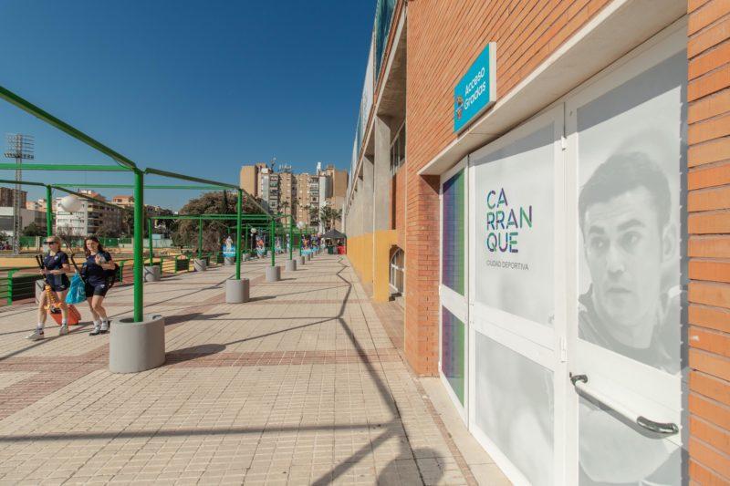 Puerta Pabellón Tematización Ciudad Deportiva Carranque