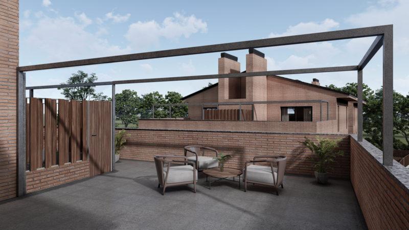 imágenes 3d para viviendas Terraza